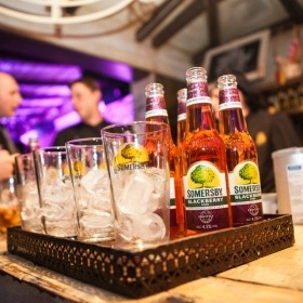 Enjoying the Somersby Blackberry party