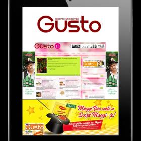 Gusto - mjesečni časopis s gastronomskim temama
